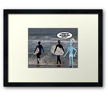 Smurfing! Framed Print