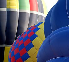 Closeup Patterns and Curves of Tethered Hot Air Balloons by HotHibiscus
