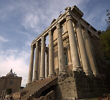 Temple in the Forum, Rome by Brett Nelson