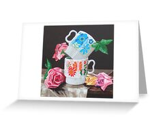 Summer Shade Retro Floral Greeting Card