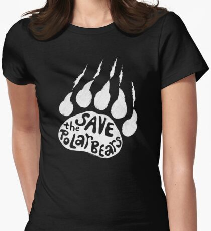 Save The Polar Bears  Womens Fitted T-Shirt