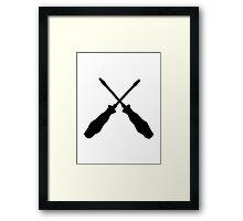 Crossed screwdriver Framed Print