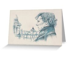 A Study In Blue - Sherlock Greeting Card