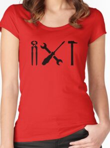 Screwdriver wrench hammer Women's Fitted Scoop T-Shirt