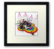 Vinyl Record Music Collage Framed Print