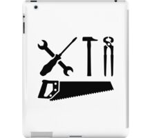 Screwdriver wrench hammer saw iPad Case/Skin
