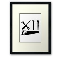 Screwdriver wrench hammer saw Framed Print