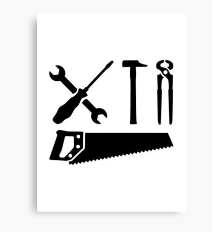 Screwdriver wrench hammer saw Canvas Print
