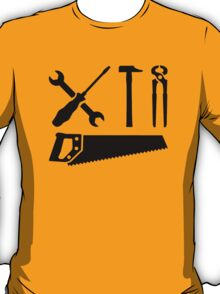 Screwdriver wrench hammer saw T-Shirt