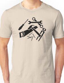Tools saw hammer nails screwdriver Unisex T-Shirt