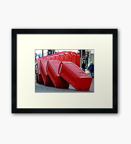 The Domino Effect - Out of Order !!!! Framed Print