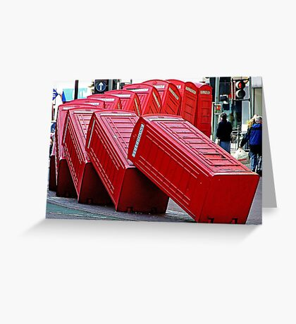 The Domino Effect - Out of Order !!!! Greeting Card