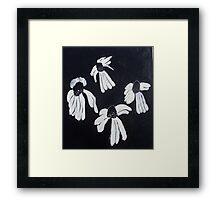Monochrome Daisies Framed Print
