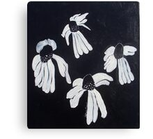 Monochrome Daisies Canvas Print