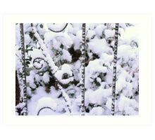 Wrought Iron In Snow Art Print