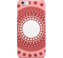 Vector Circles - Red iPhone Case/Skin