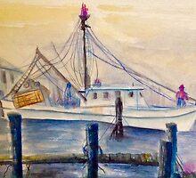 Misty Morning Pier by AnneMerritt