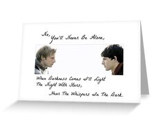 Merlin Whispers In The Dark Greeting Card