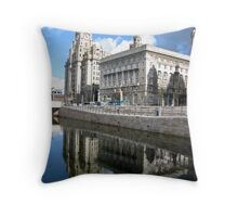 LIVERPOOL WATER FRONT Throw Pillow