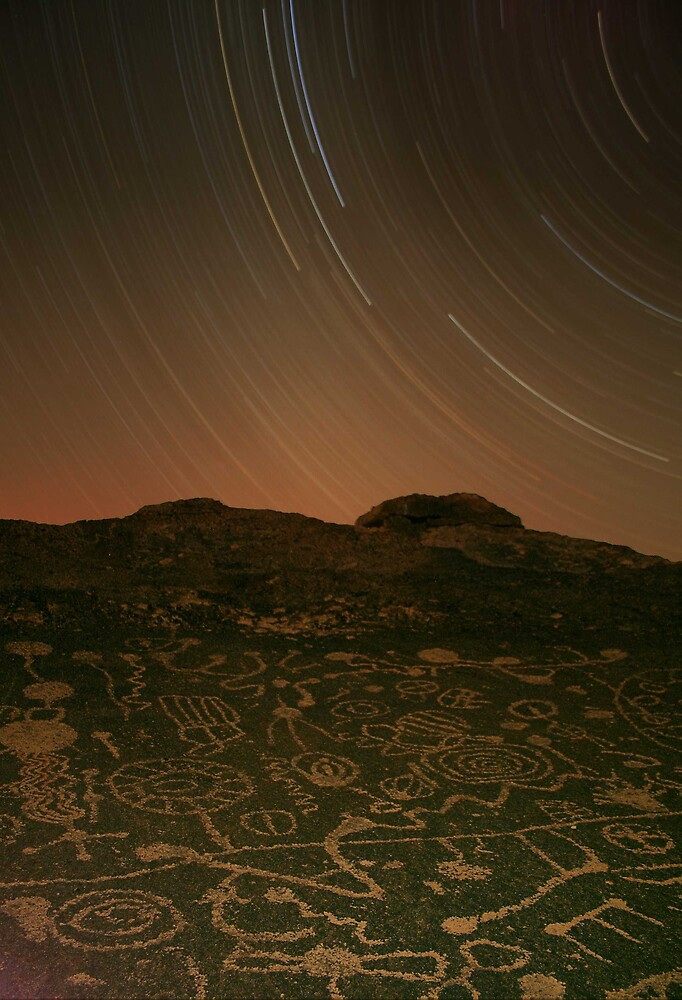 Three Hour Petroglyph Exposure, Eastern Sierra by Tyler  Core