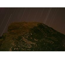Stars Over Petroglyphs, Eastern Sierra Photographic Print