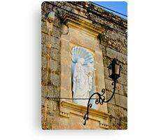 St Joseph niche in Hal-Gharghur - Malta Canvas Print