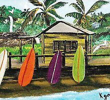 Boards On The Beach by WhiteDove Studio kj gordon