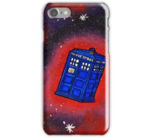 Police Box in Flight iPhone Case/Skin