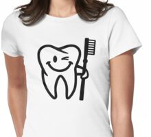 Happy tooth toothbrush Womens Fitted T-Shirt