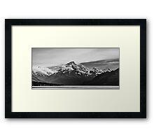Mt Cook New Zealand BW (Aoraki) Framed Print
