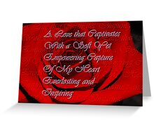 A Love that Captivates... Greeting Card