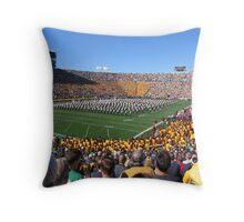 """Bush Push"" game at Notre Dame University Throw Pillow"
