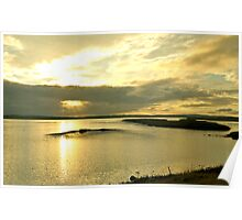 Loch of Harray Sunset - Mainland Orkney Poster