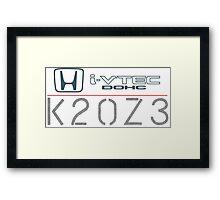 Civic SI K20Z3 Framed Print