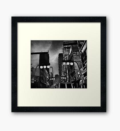night falls in gotham Framed Print