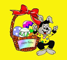 Easter bunny with Easter egg basket by MNA-Art