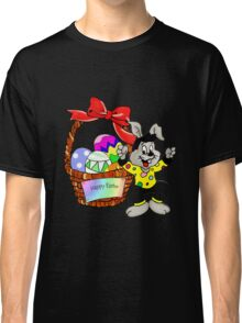 Easter bunny with Easter egg basket Classic T-Shirt