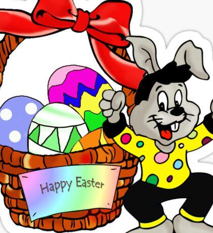 Easter bunny with Easter egg basket Sticker