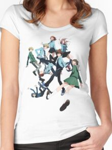 Digimon Adventure 3 Group Women's Fitted Scoop T-Shirt