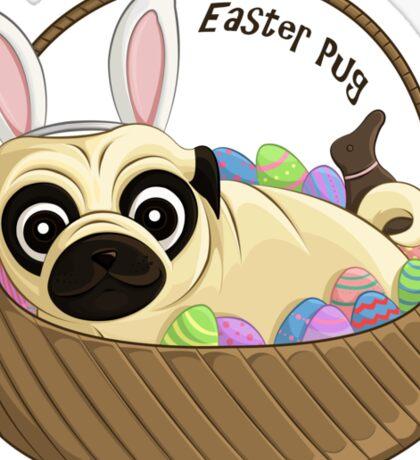 Easter Pug Sticker