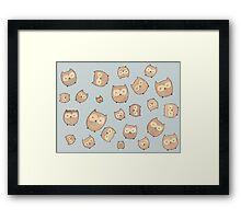 Fat Little Owls Framed Print