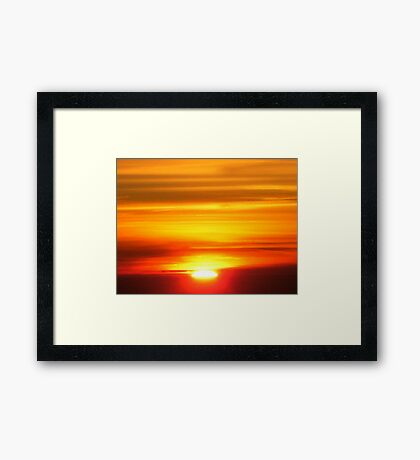 Sunset on the Plane III Framed Print