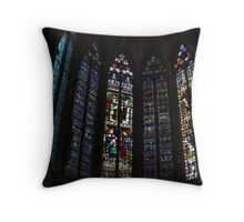 Mediaeval Glass Throw Pillow