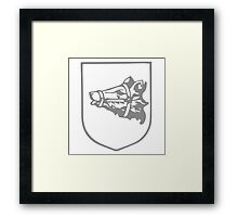 A Complete Guide to Heraldry - Figure 352 — Bear's head erased and muzzled (Scottish) Framed Print