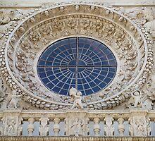 Basilica of Santa Croce - rose window by Fabio Procaccini