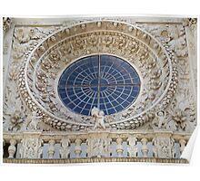 Basilica of Santa Croce - rose window Poster