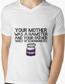 Your Mother Was a Hamster Mens V-Neck T-Shirt