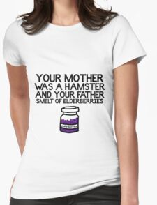 Your Mother Was a Hamster Womens Fitted T-Shirt