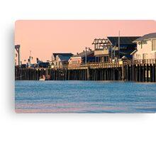 Stearns Wharf, Santa Barbara  Canvas Print