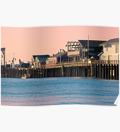 Stearns Wharf, Santa Barbara  Poster